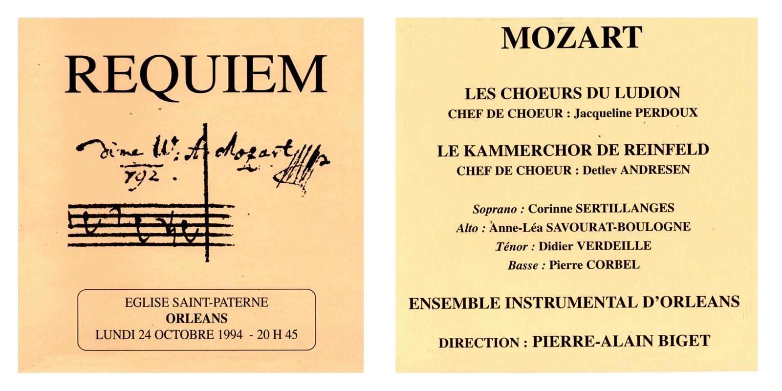 1994 - Requiem de Mozart